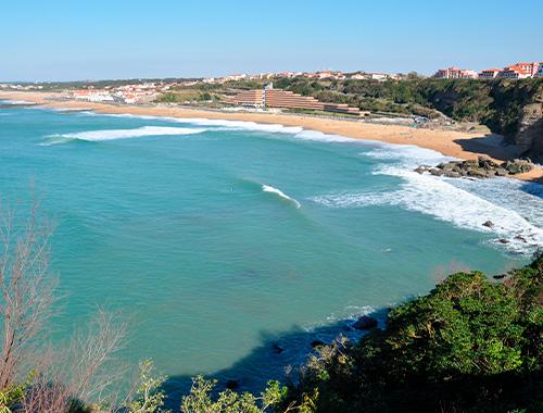 plage anglet spot de surf