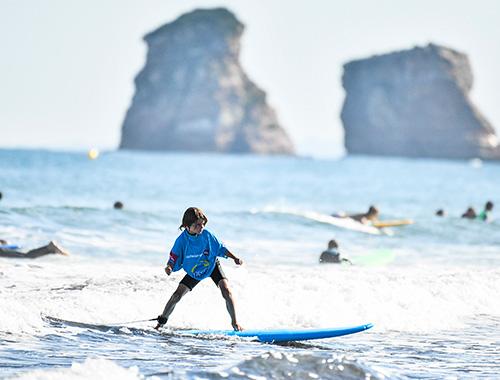 plage surf hendaye spot de surf