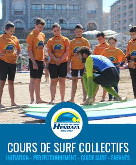 cours de surf hendaye